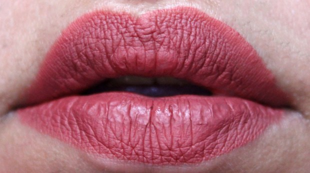 NYX Lip Lingerie Liquid Lipstick Exotic Review Swatches Fresh on Lips