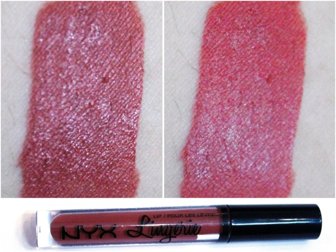 NYX Lip Lingerie Liquid Lipstick Exotic Review Swatches MBF