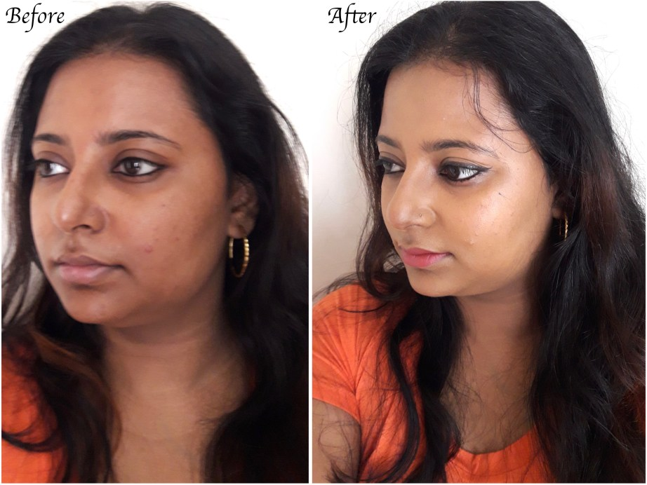 Revlon PhotoReady Airbrush Effect Makeup Foundation Review, Swatches, Demo Before After 1