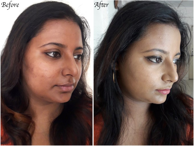 Revlon PhotoReady Airbrush Effect Makeup Foundation Review, Swatches, Demo Before After 2