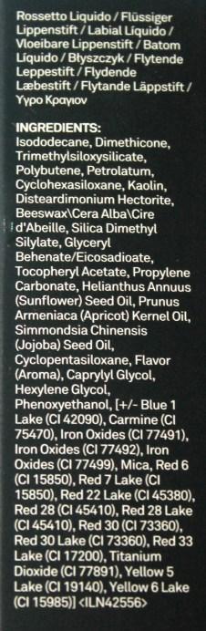 Smashbox Always On Matte Liquid Lipstick Bawse Ingredients