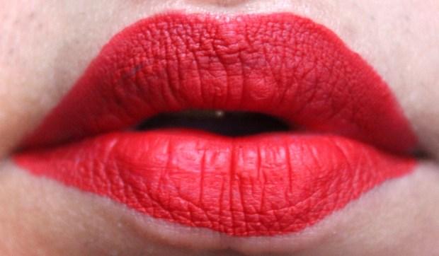 Smashbox Always On Matte Liquid Lipstick Bawse Review Swatches Red Lips HD Fresh