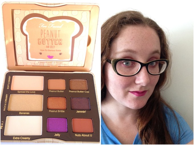 Too Faced Peanut Butter & Jelly Eyeshadow Palette Review Swatches MBF Makeup Look
