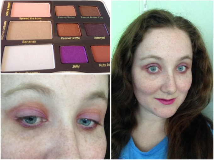 Too Faced Peanut Butter & Jelly Eyeshadow Palette Review Swatches Eye Makeup Look