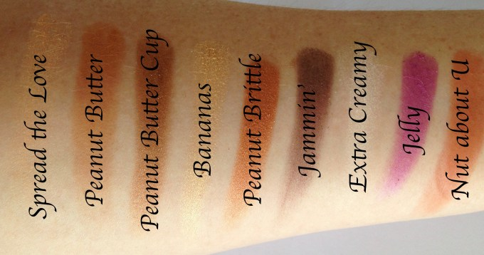 Too Faced Peanut Butter & Jelly Eyeshadow Palette Review Swatches MBF Blog