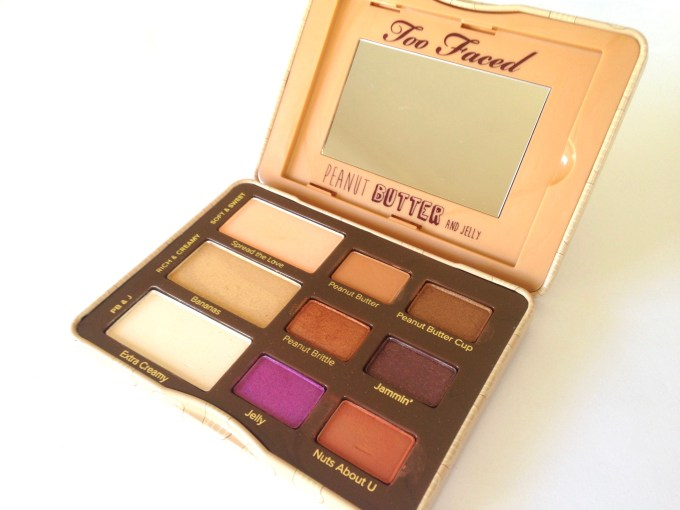 Too Faced Peanut Butter & Jelly Eyeshadow Palette Review Swatches