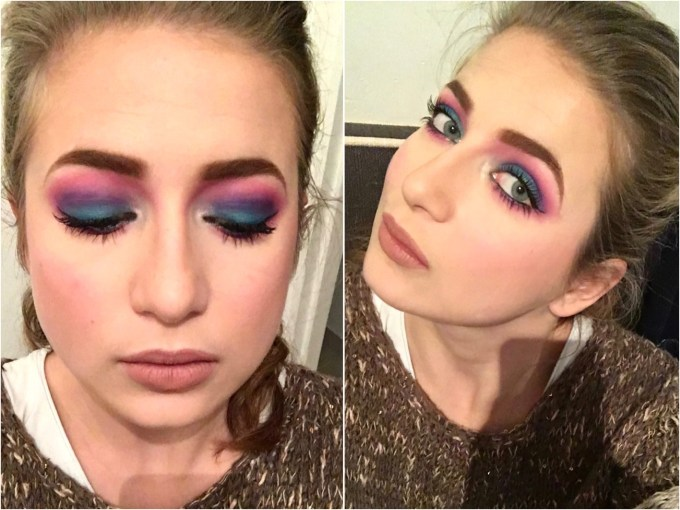 Urban Decay Electric Pressed Pigment Eyeshadow Palette Review Swatches MBF Day Makeup Look