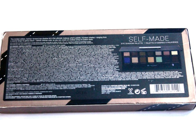 Anastasia Beverly Hills Self Made EyeShadow Palette Review, Swatches box