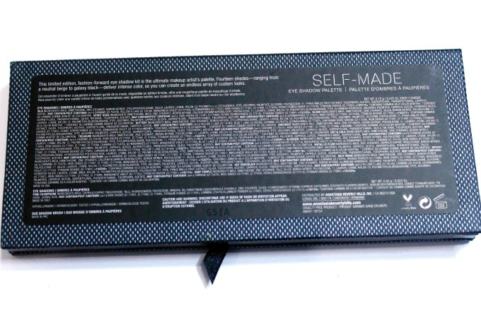 Anastasia Beverly Hills Self Made EyeShadow Palette Review, Swatches details
