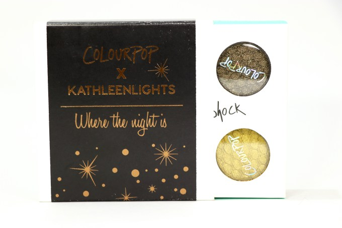 ColourPop KathleenLights Where The Night Is Super Shock Shadow Set Review, Swatches action