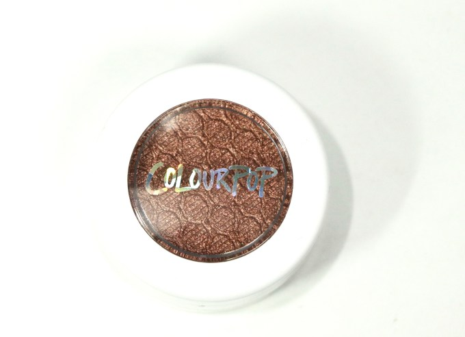 ColourPop Weenie Super Shock Eye Shadow Review, Swatches 1