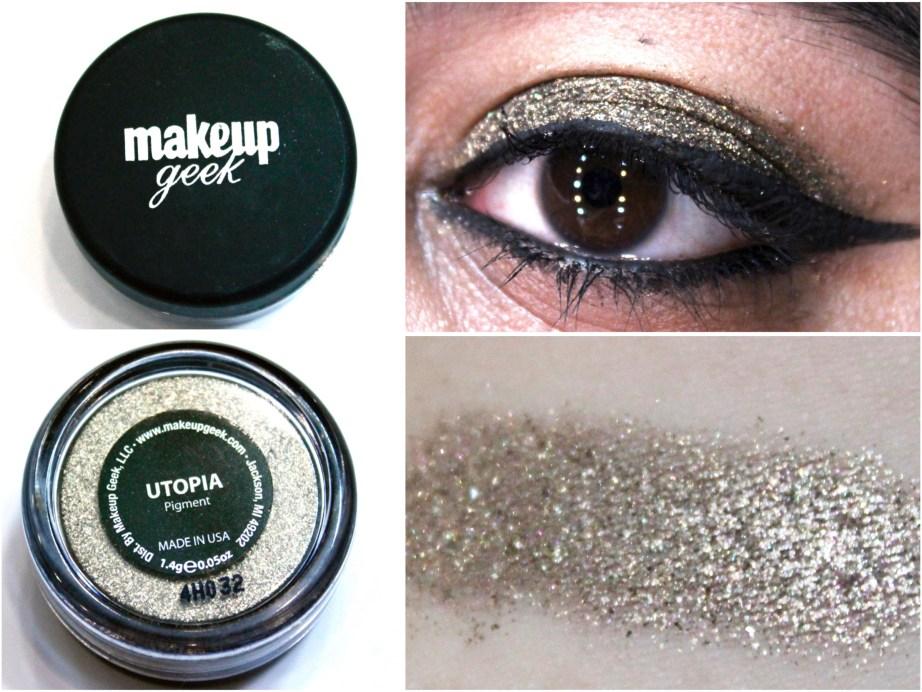 Makeup Geek Utopia Pigment Review, Swatches