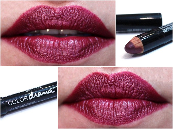 Maybelline Color Drama Intense Velvet Lip Pencil Berry Much Review, Swatches Lips MBF Blog