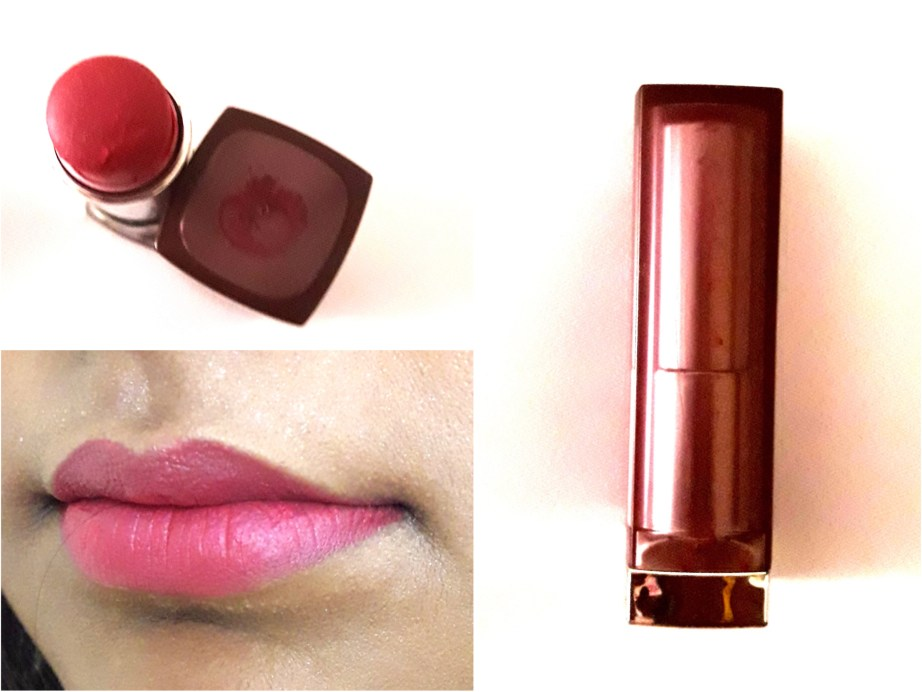 Maybelline Creamy Matte Lipstick Mesmerizing Magenta Review, Swatches