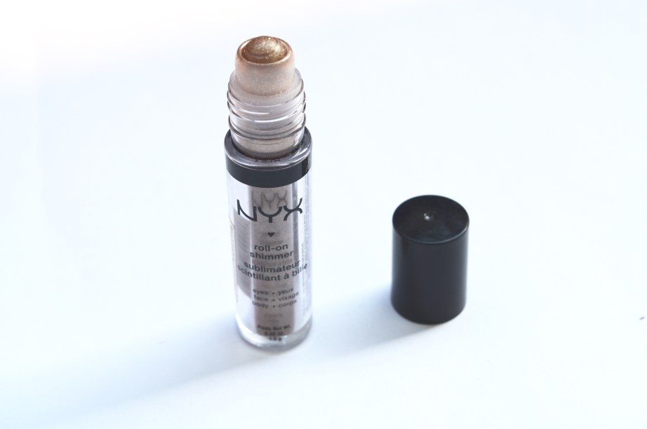 NYX Roll On Shimmer Almond Review, Swatches 3