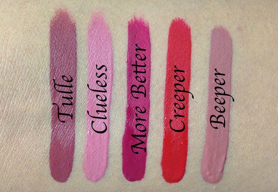 ColourPop Foxy Ultra Matte Lipstick Kit Review, Swatches Tulle Clueless More Better Creeper Beeper
