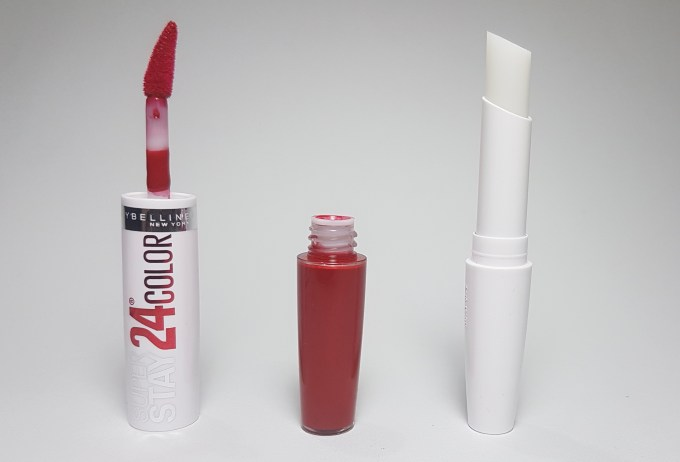 Maybelline Superstay 24 Color 2 Step Lipstick Keep It Red 035 Review, Swatches 3