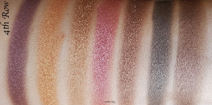 Morphe 35F Fall Into Frost Palette Review, Swatches 4th Row