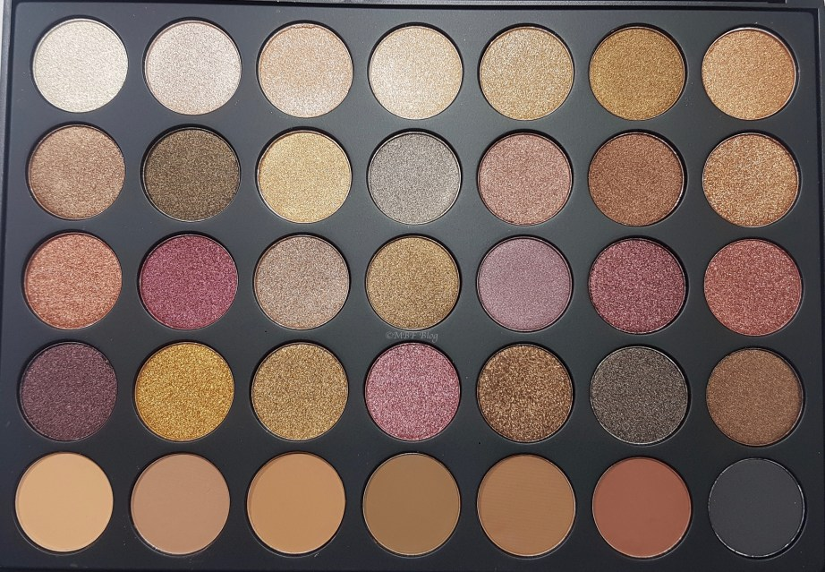 Morphe 35F Fall Into Frost Palette Review, Swatches Focus
