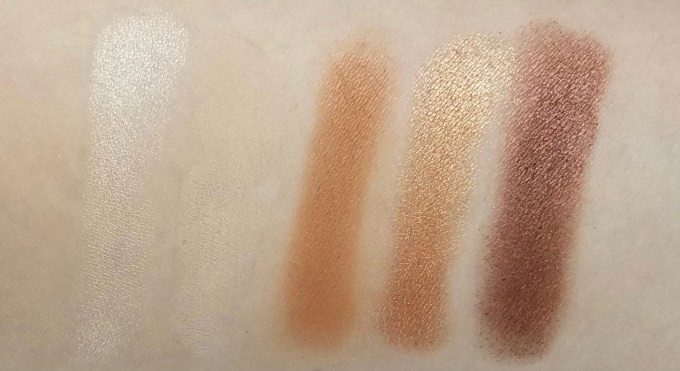 Morphe Kathleen Lights Eyeshadow Palette Review, Swatches row 1