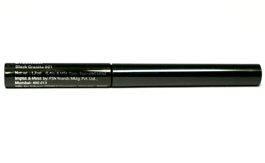 Nykaa 24Hrs Vinyl Luxe Eyeliner Black Granite Review, Swatches Details MBF