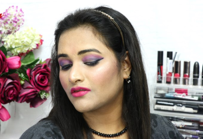 Nykaa 24Hrs Vinyl Luxe Eyeliner Black Granite Review, Swatches MBF Makeup Look