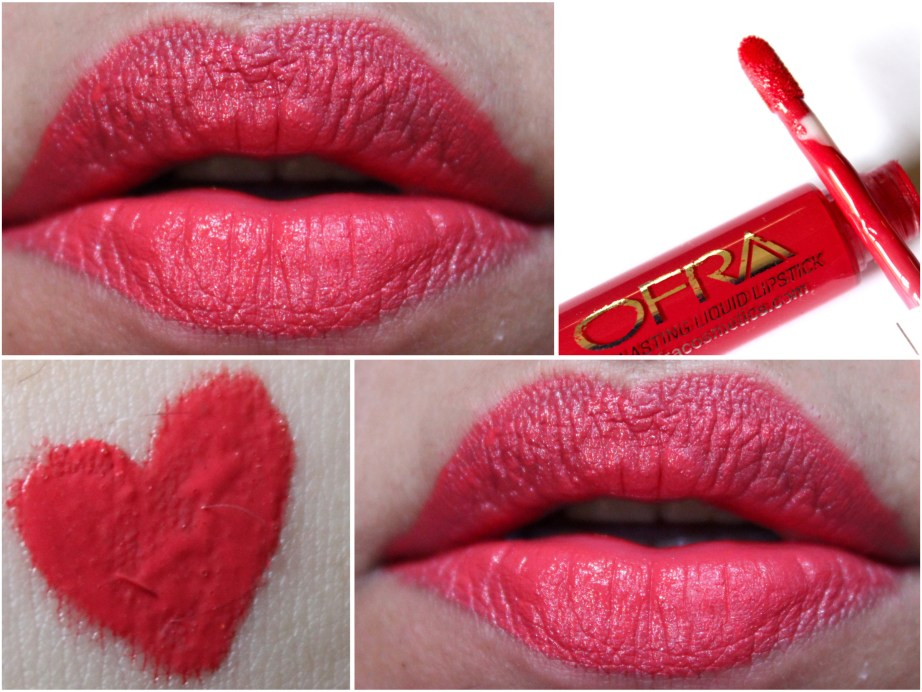 OFRA Long Lasting Liquid Lipstick Paris Rendezvous Review, Swatches Photos