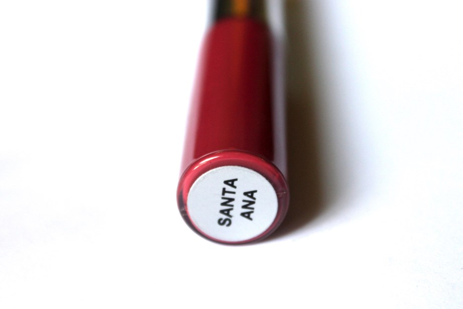 OFRA Long Lasting Liquid Lipstick Santa Ana Review, Swatches label