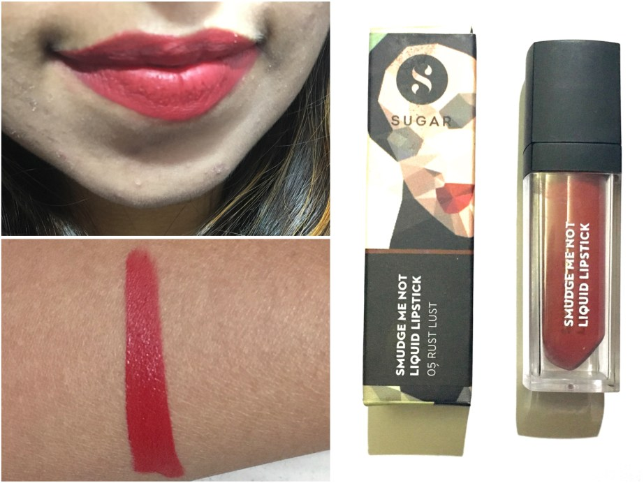 Sugar Smudge Me Not Liquid Lipstick Rust Lust 05 Review, Swatches