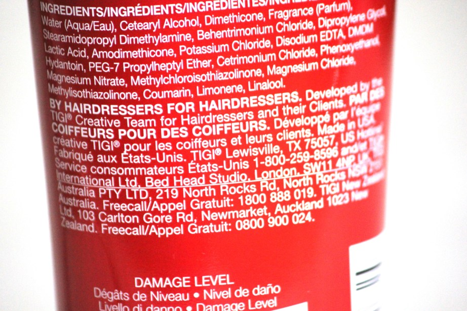 TIGI Bed Head Ubran Antidotes Resurrection Level 3 Conditioner Review details
