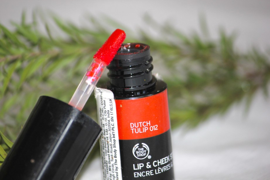 The Body Shop Lip and Cheek Stain Dutch Tulip 012 Review, Swatches MBF Blog