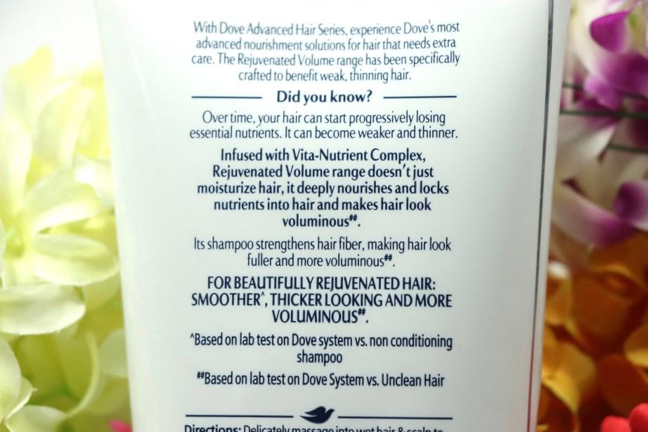 Dove Rejuvenated Volume Shampoo Review Info