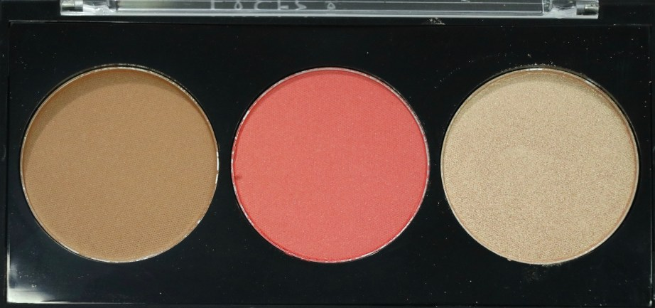 FACES Ultime Pro Face Palette Glow Review, Swatches closeup