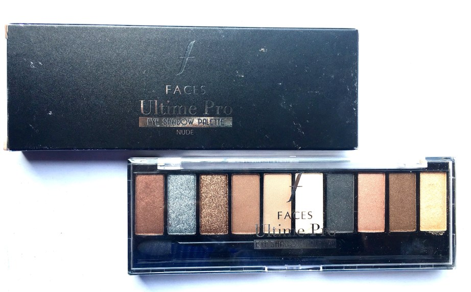 Faces Ultime Pro Eyeshadow Palette Nude Review, Swatches by MBF Blog