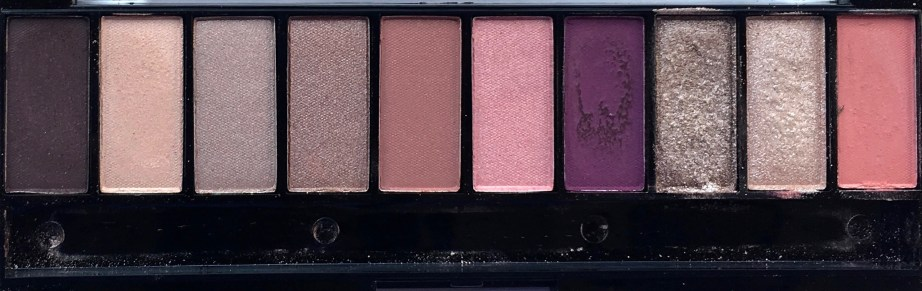 Faces Ultime Pro Eyeshadow Palette Rose Review, Swatches Closeup of shades