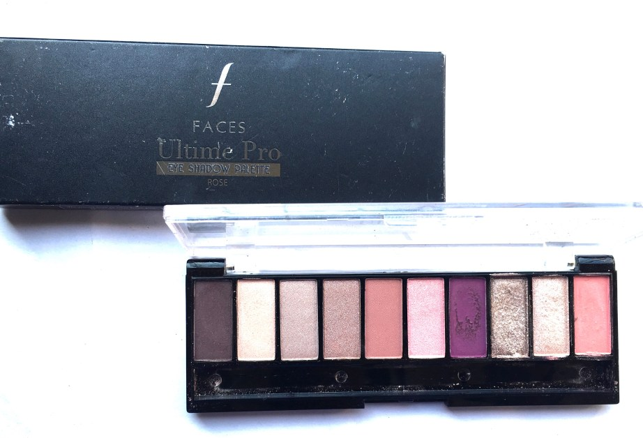 Faces Ultime Pro Eyeshadow Palette Rose Review, Swatches MBF Beauty Blog