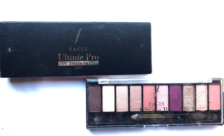 Faces Ultime Pro Eyeshadow Palette Rose Review, Swatches MBF blog