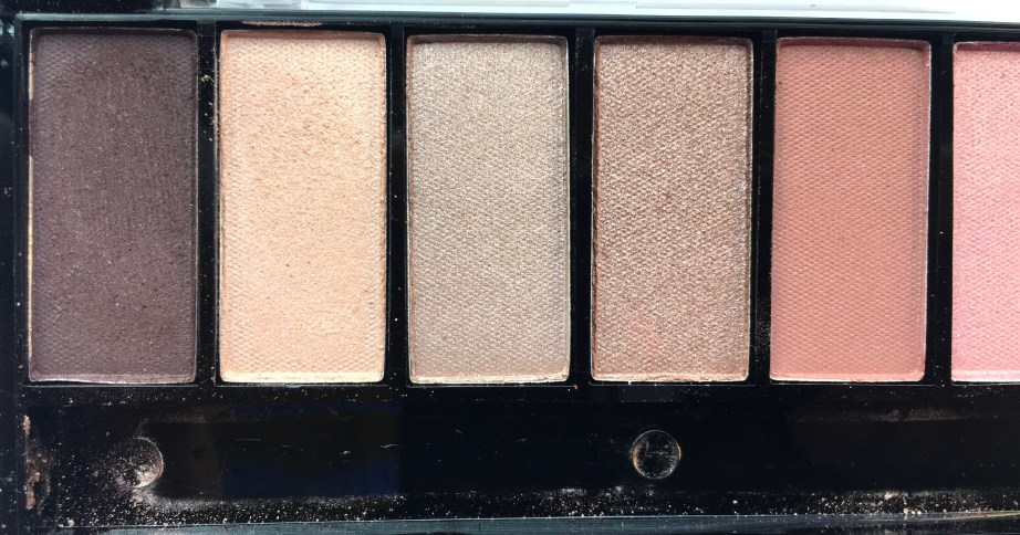 Faces Ultime Pro Eyeshadow Palette Rose Review, Swatches left