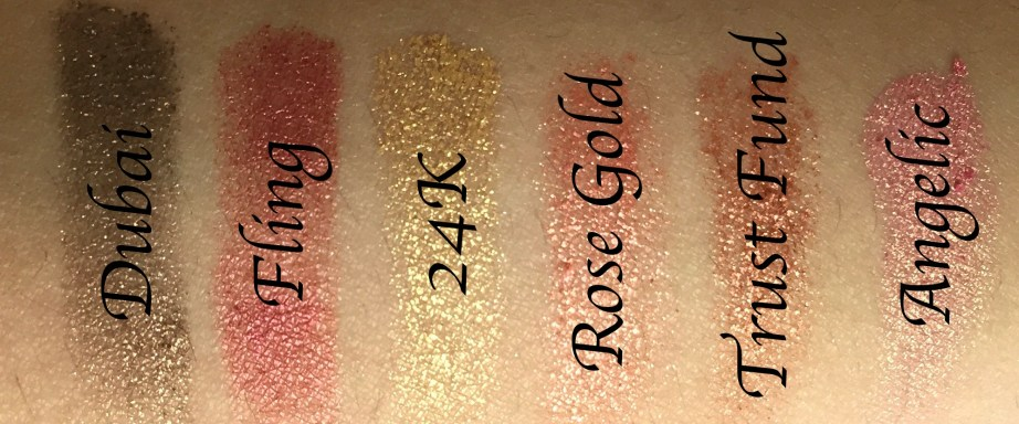 Huda Beauty Rose Gold Textured Shadows Palette Review, Swatches 1st Row Dubai Fling 24k rose gold trust fund angelic