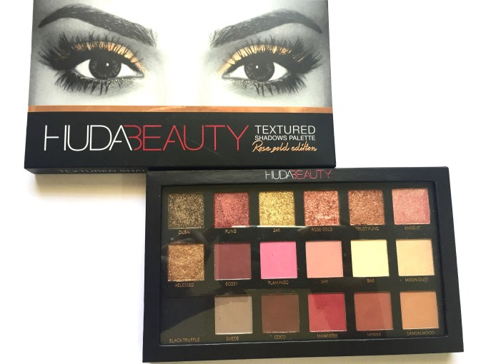 Huda Beauty Rose Gold Textured Shadows Palette Review, Swatches