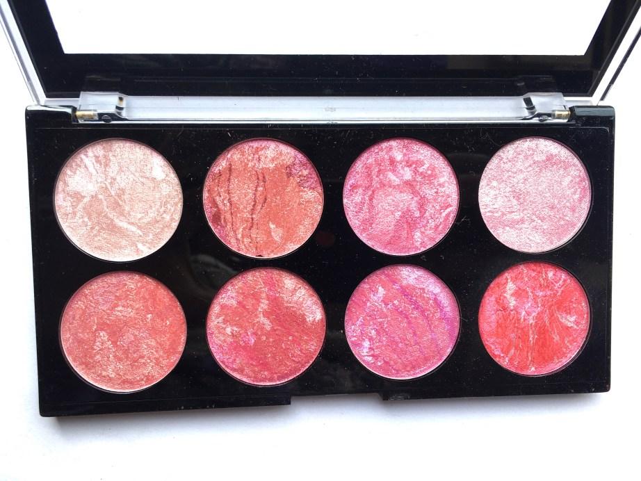 Makeup Revolution Blush Palette Blush Queen Review, Swatches Focus