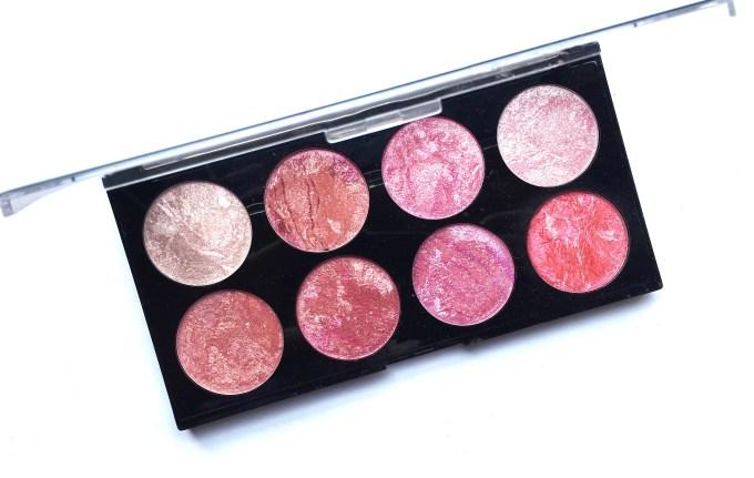 Makeup Revolution Blush Palette Blush Queen Review, Swatches MBF Blog