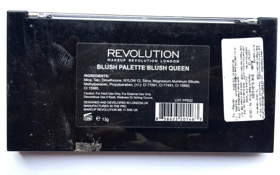 Makeup Revolution Blush Palette Blush Queen Review, Swatches details