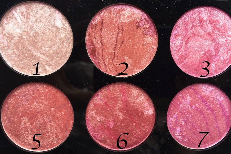 Makeup Revolution Blush Palette Blush Queen Review, Swatches left
