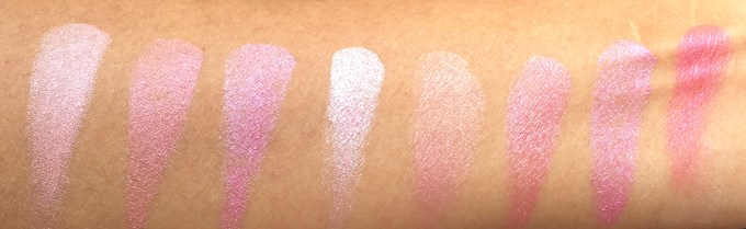 Makeup Revolution Blush Palette Blush Queen Review, Swatches room light
