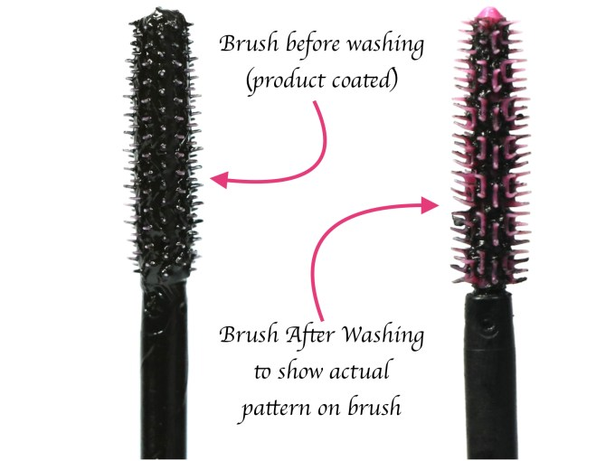 Maybelline Falsies Push Up Drama Mascara Review, Swatches, Demo applicator before after