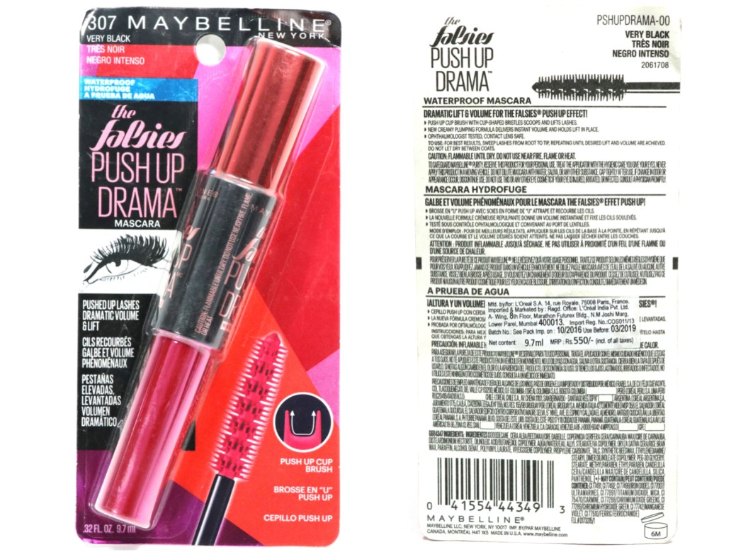 609a4917a53 Maybelline Falsies Push Up Drama Mascara Review, Swatches, Demo packaging