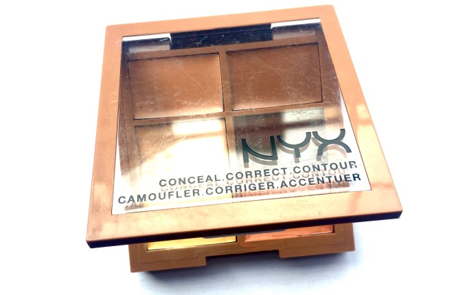 NYX Conceal, Correct, Contour 3C Palette Review, Swatches blog MBF