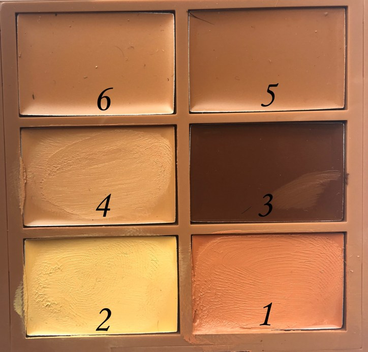 NYX Conceal, Correct, Contour 3C Palette Review, Swatches close up