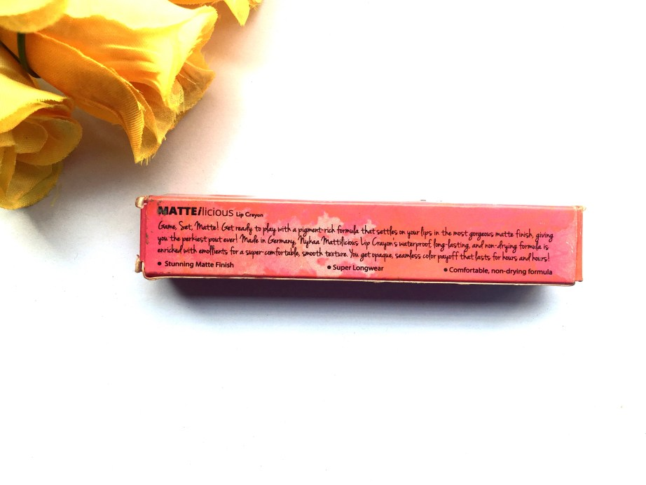 Nykaa Matteilicious Lip Crayon Hot As Red Review, Swatches Info